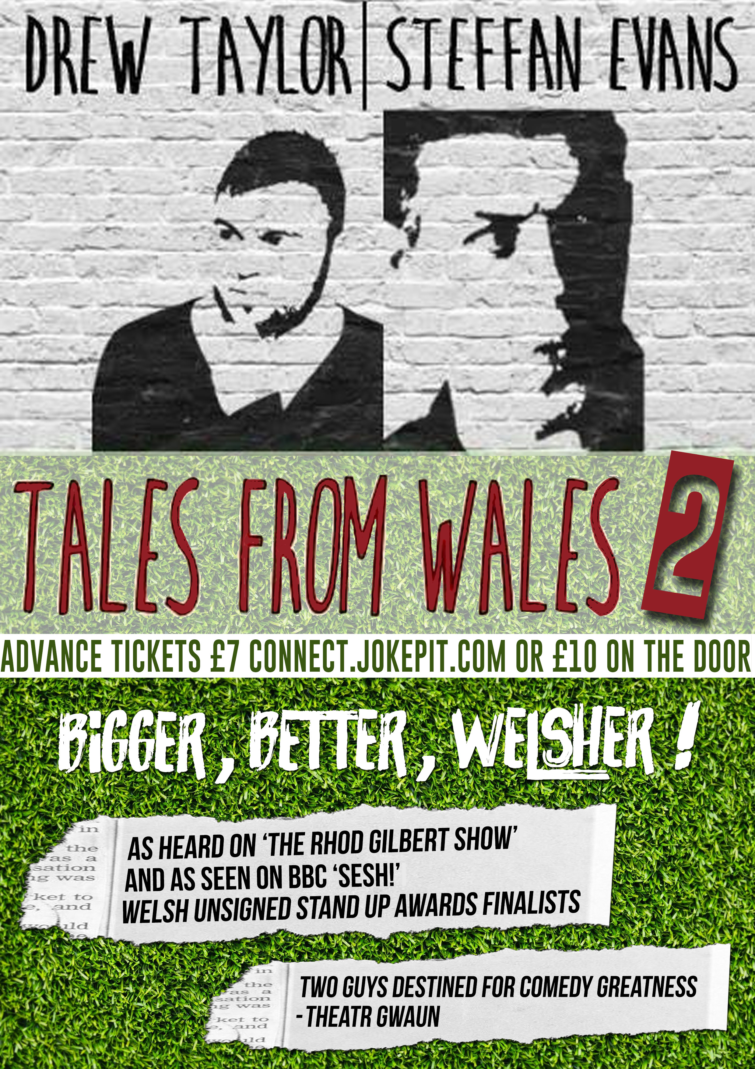 Drew tales from wales 2 festival front page