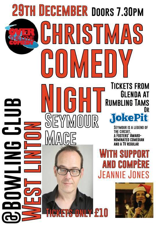 Over the lyne christmas comedy night jokepit comedy tickets