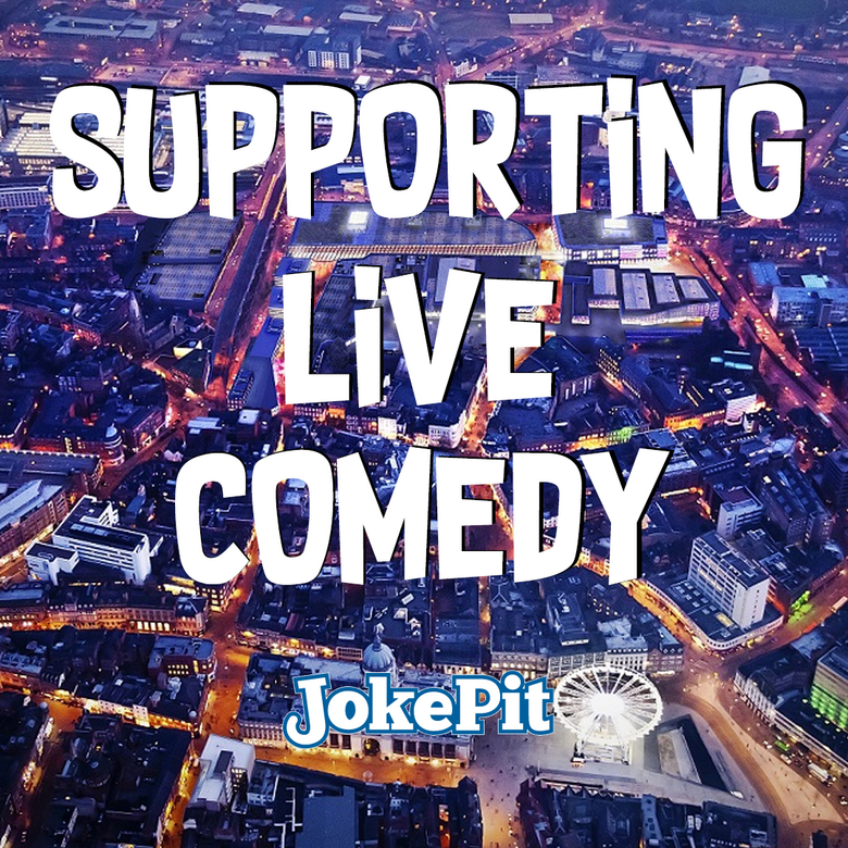 Cover supporting live comedy jokepit 16